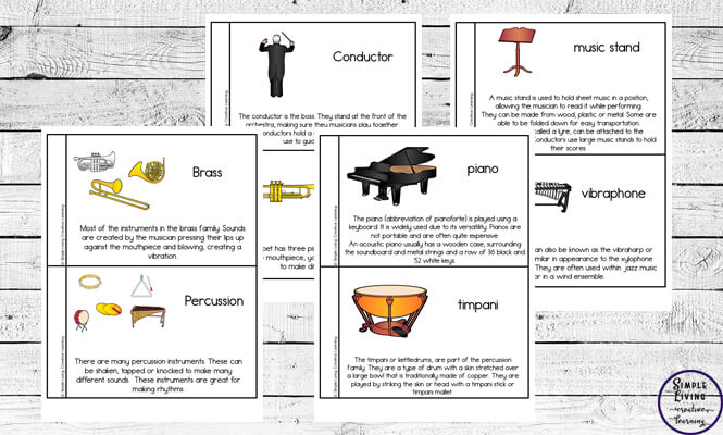 This musical instruments booklet is a great way for encouraging children to learn about the instruments that make up an orchestra.