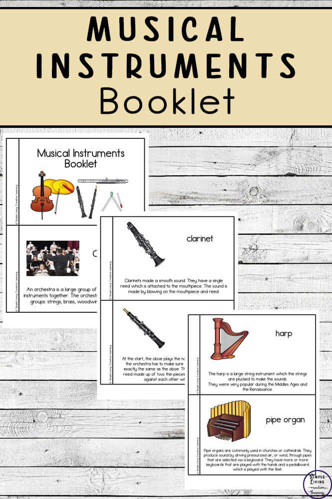 photo about Free Printable Lap Harp Music Cards titled Musical Applications Booklet - Easy Residing. Inventive Finding out