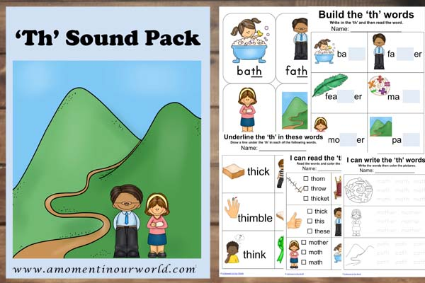 Th Sound Word Pack