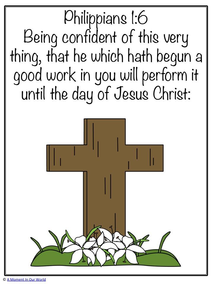 Monday Memory Verse: Philippians 1:6