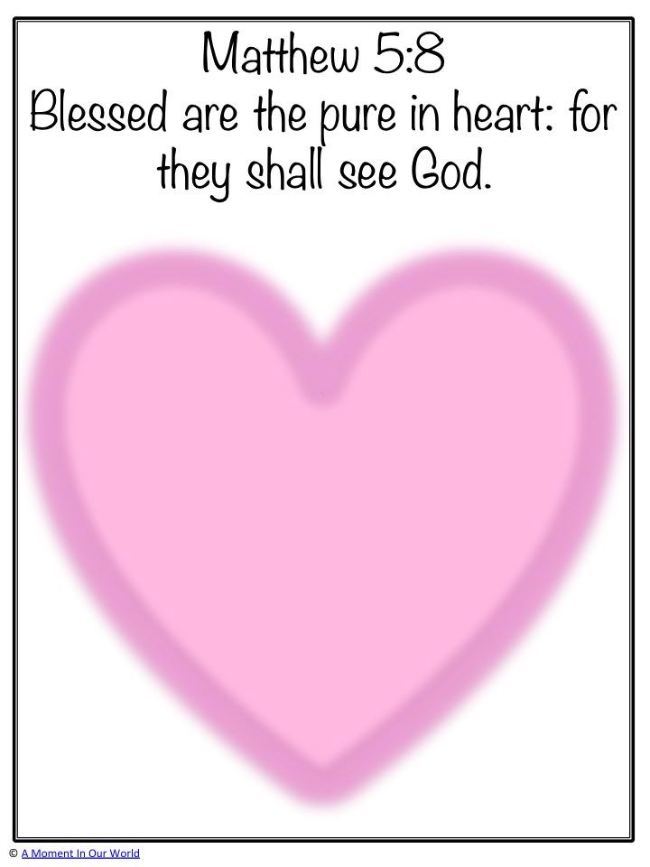 Monday Memory Verse: Matthew 5:8