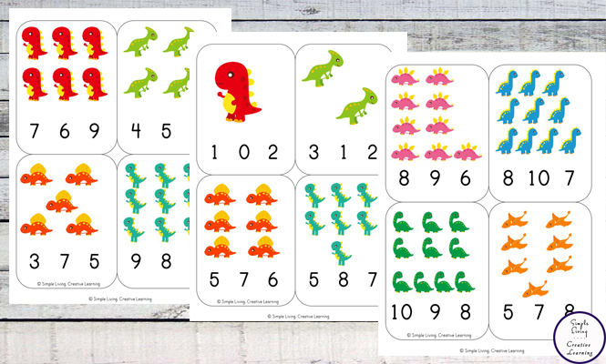 These Dinosaur Count and Clip Cards are not only cute, but they are a great way to learn how to count from one through twelve.