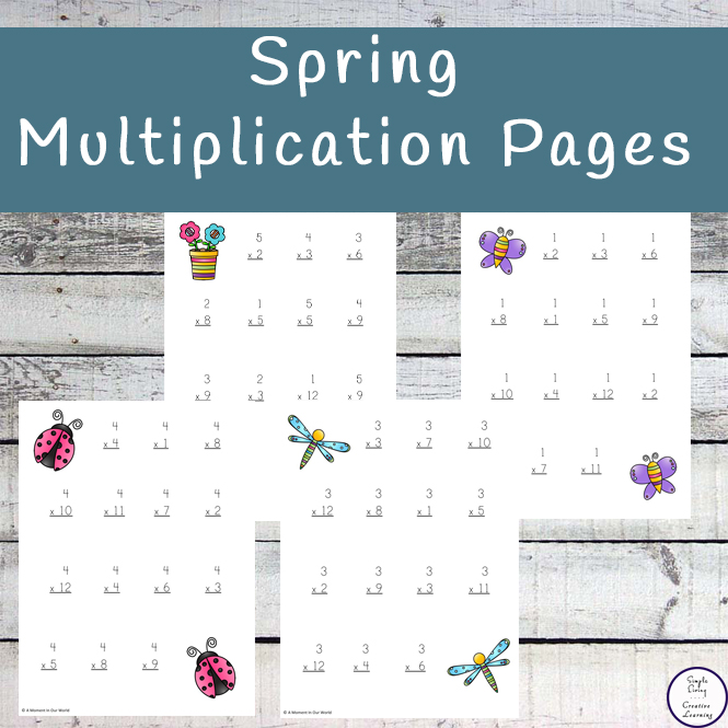 A great way to practice multiplication is with these Spring Multiplication Pages.