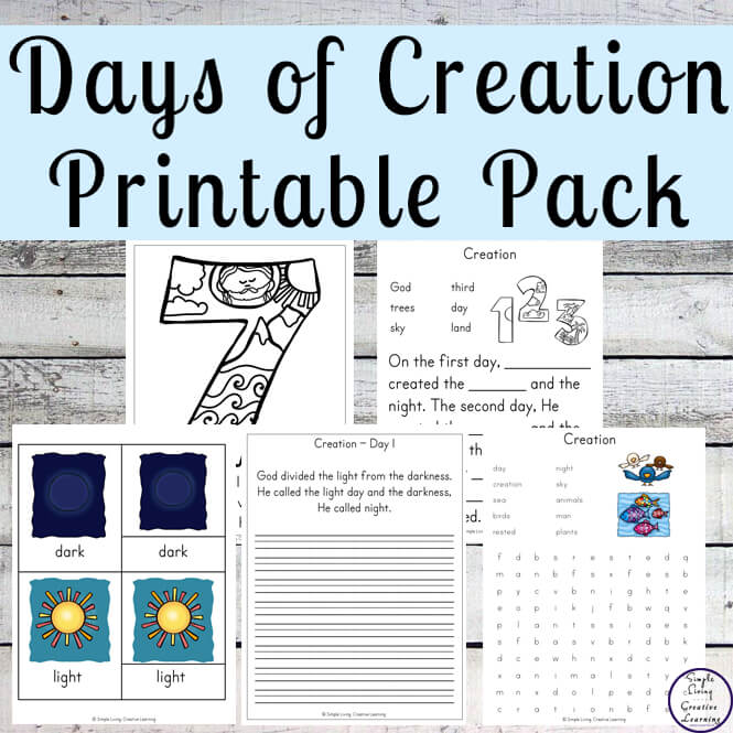 This Days of Creation Printable Pack is great for those learning about the 6 days of Creation and how God rested on the 7th Day. It is based on the beginning of the world as mentioned in Genesis and is aimed at children ages 2 - 9.