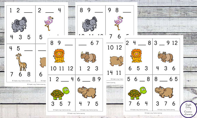 These Missing Number Clip Cards are fun and great for increasing counting skills.