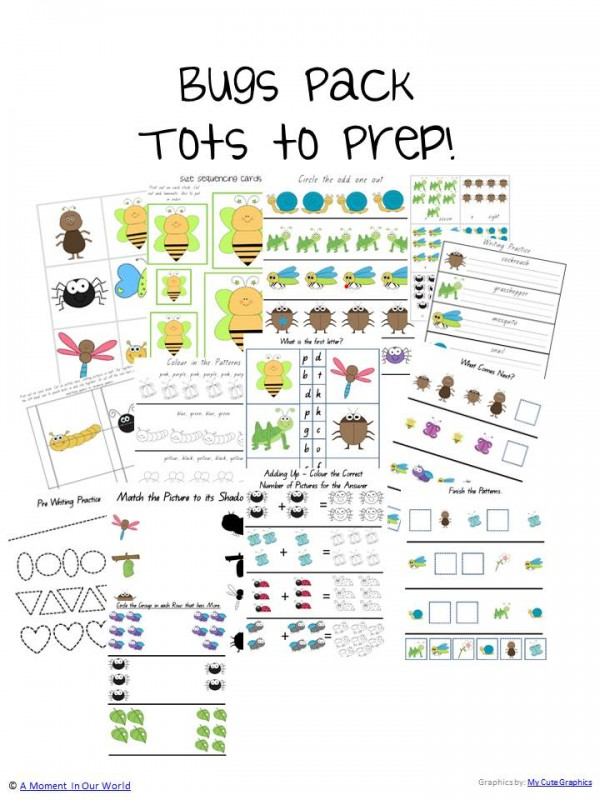 Bugs Pack Tots to Prep