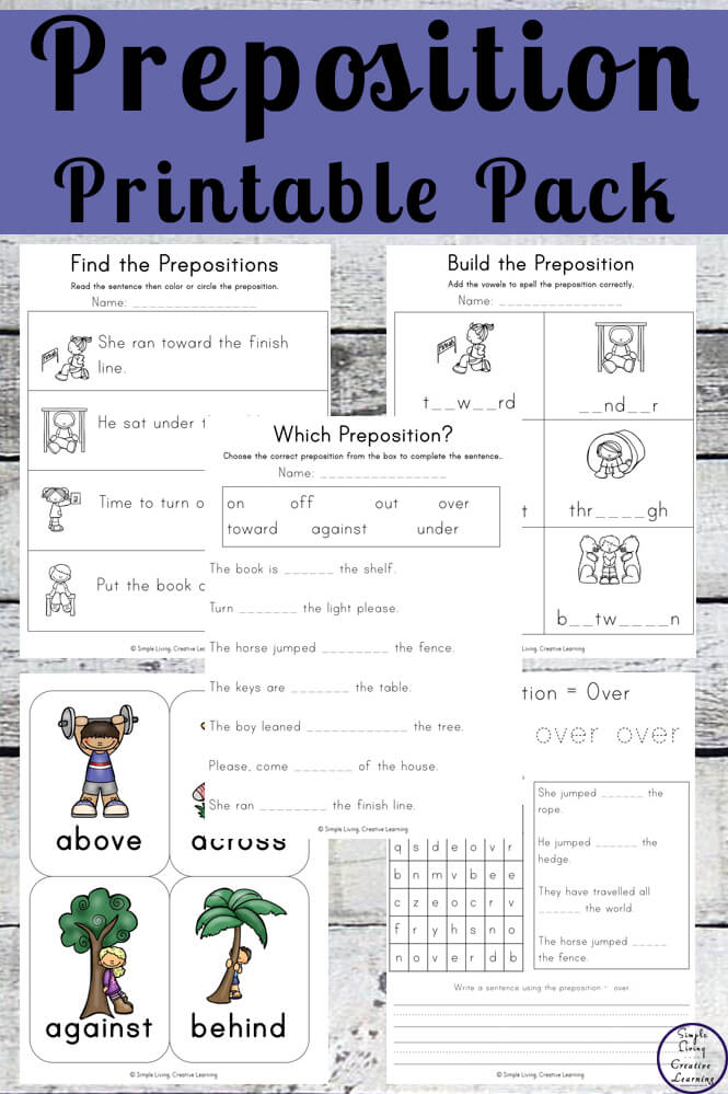 Learn about prepositions with this fun Preposition Printable Pack.