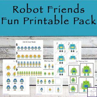 Robot Friends Fun Printable Pack
