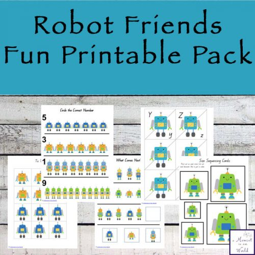 This 86-page Robot Friends Fun Printable Pack is aimed at kids ages 2 - 8.