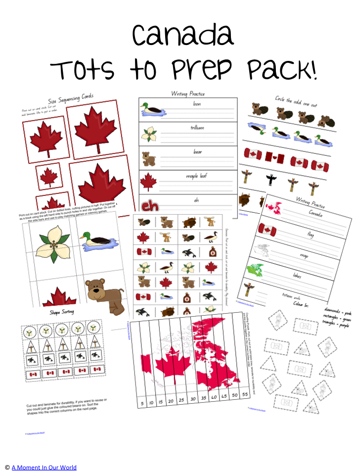 Canada Tots to Prep Pack
