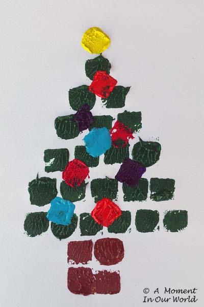 Sugar Cube Christmas Tree Painting 1