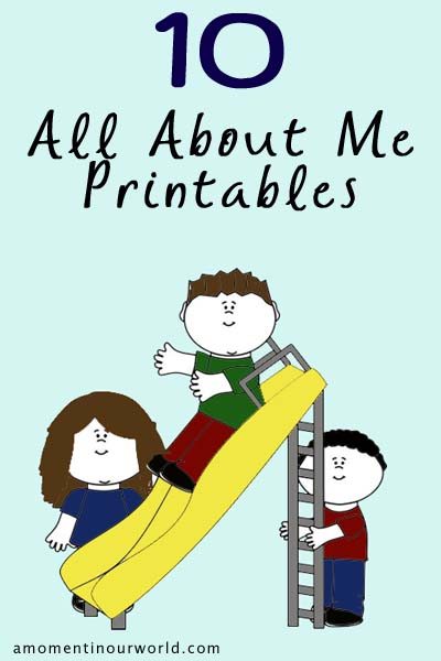10 All About Me Printables