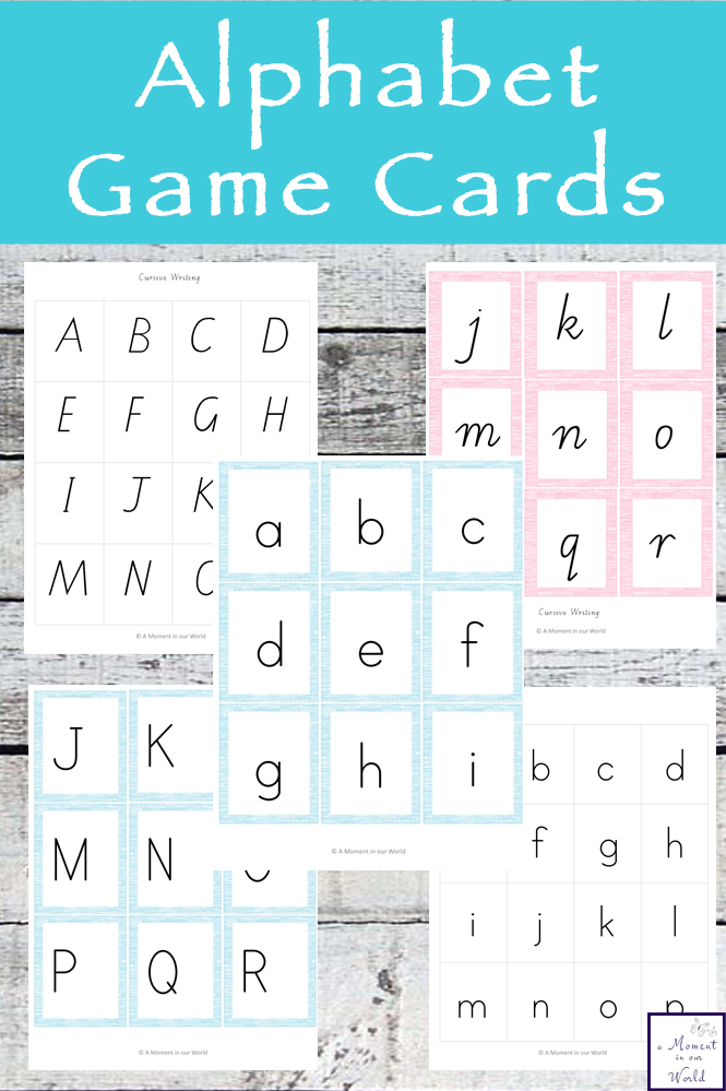 These Alphabet Game Cards can be used in multiple ways and come in 3 different styles.