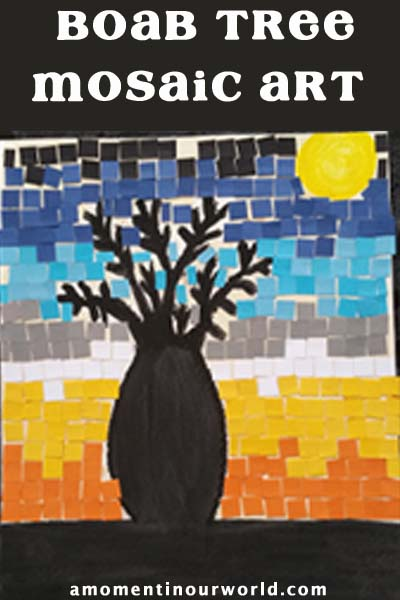 Boab Tree mosaic Art