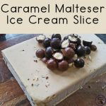 This Caramel Malteser Ice Cream Slice is a delicious ice cream slice that is lovely dessert for sharing with friends and family.