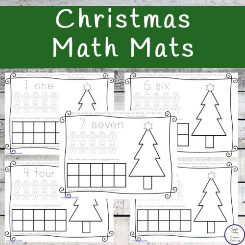 These Christmas Math Mats will encourage your young children to learn to count with fun Christmas themed math activities. In using this printable pack, they will be working on their number recognition as well as their counting skills.
