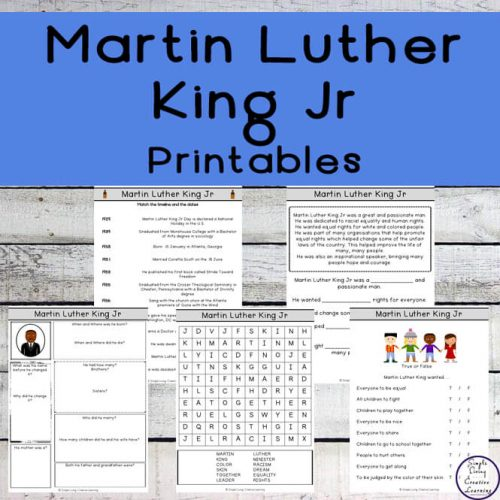 ds will love learning about Martin Luther King Jr, one of the most important voices in the American Civil Rights movement, with these printables.