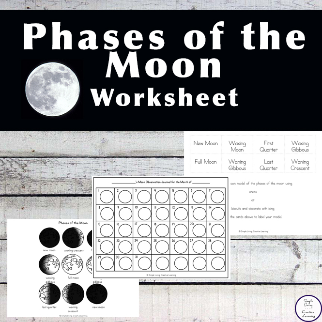 graphic about Phases of the Moon Printable Worksheets identified as Levels of the Moon Worksheet - Uncomplicated Dwelling. Artistic Finding out