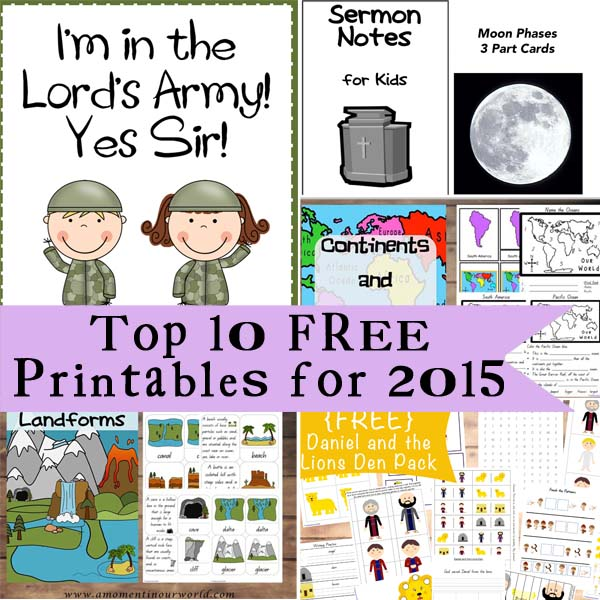 Top 10 Free Printables for 2015