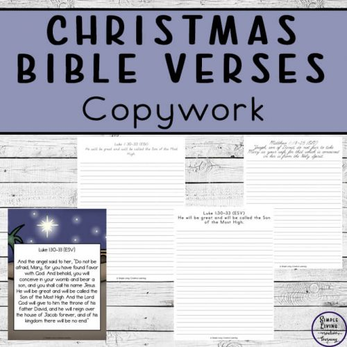 These Printable Christmas Bible Verse Copywork packs are a great way to learn verses of the Bible, while working on handwriting skills.