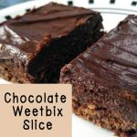This yummy chocolate weet-bix slice is easy to make and freezes for a great lunchbox snack. You can't even tell there are weet-bix in it!