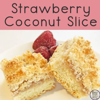 This delicious Strawberry Coconut Slice is a great slice for sharing with family and friends. They will love the soft base and crunchy coconut top.
