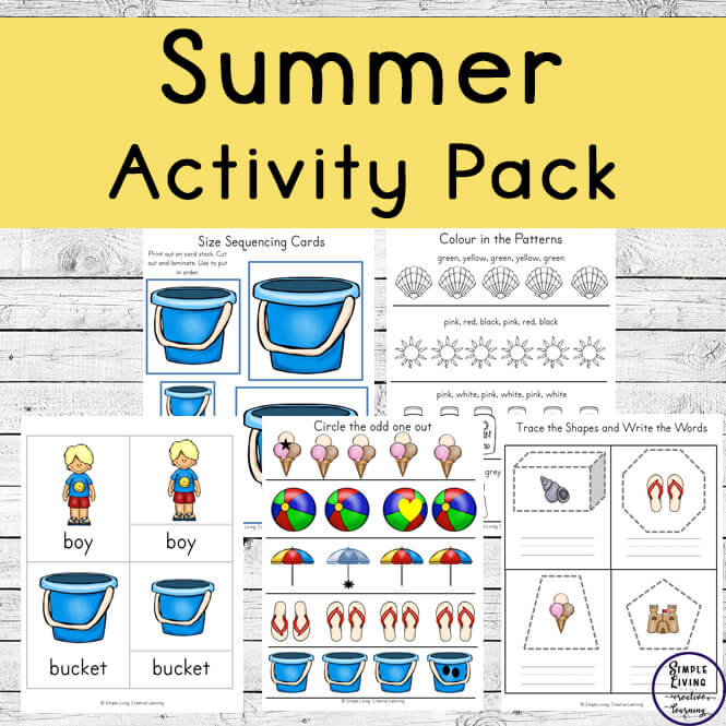This massive 120-page Summer Activity Pack is aimed at children up to 9 and contains a variety of maths and literacy activities.