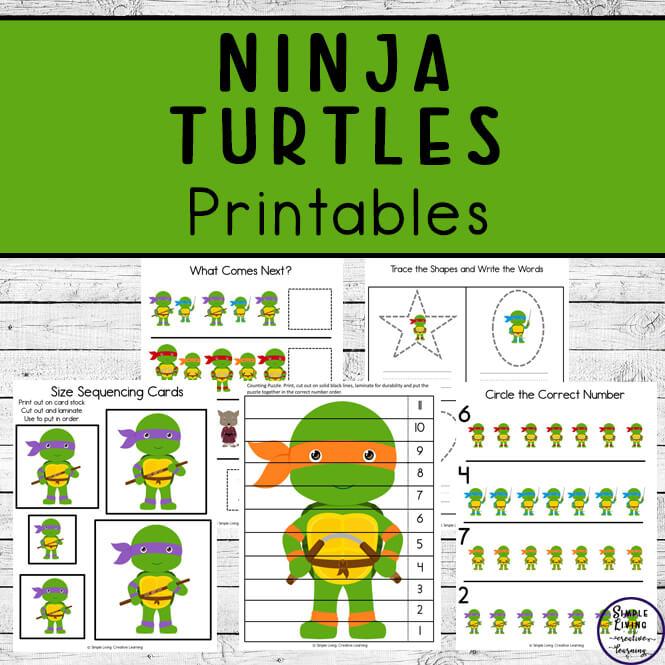 Ninja Turtles Printables Pack