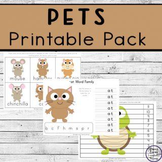 pets printable pack