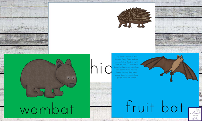 Australian Animals Playdough Mats Simple Living