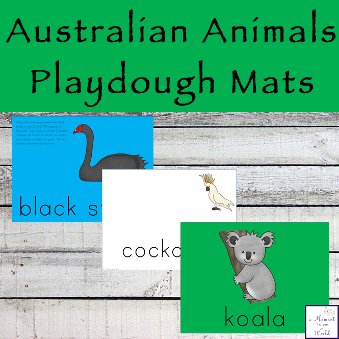 These Australian Animal Playdough Mats are a great way to encourage young children to learn about many of the unique animals that live in Australia.