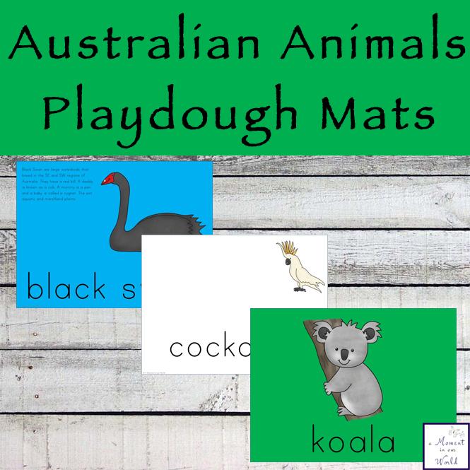 Australian Animal Playdough Mats
