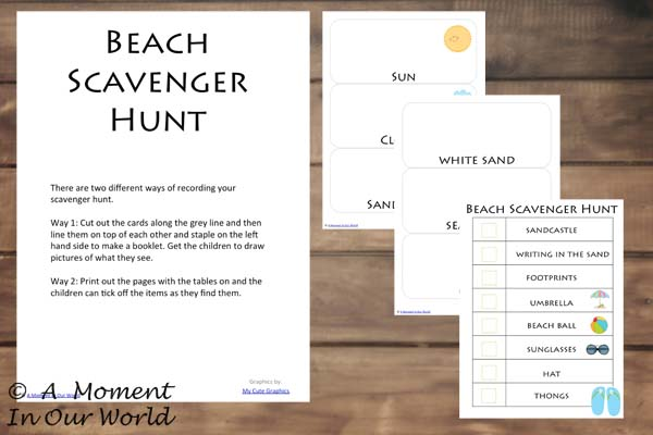 {FREE} Printable Beach Scavenger Hunt