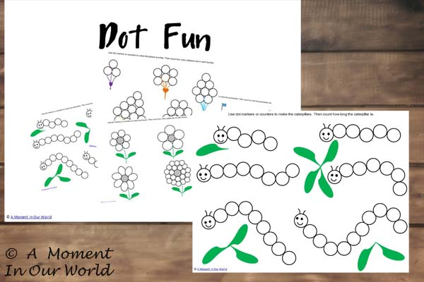 {FREE} Printable Counting Dot Fun