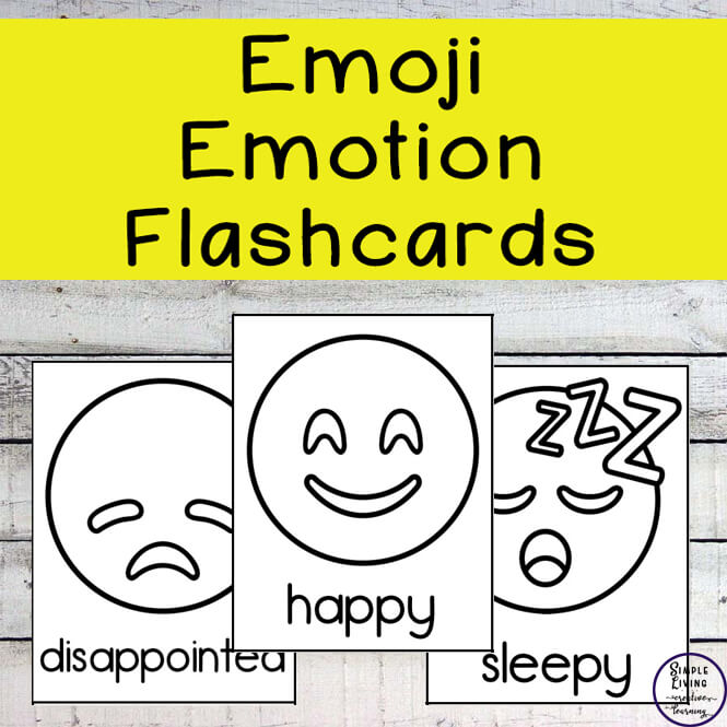 graphic relating to Emotion Flashcards Printable identified as Emoji Feelings Flashcards - Uncomplicated Dwelling. Innovative Studying