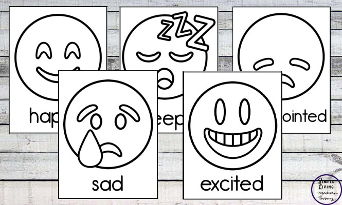 image regarding Emoji Feelings Printable named Emoji Feelings Flashcards - Easy Dwelling. Artistic Studying