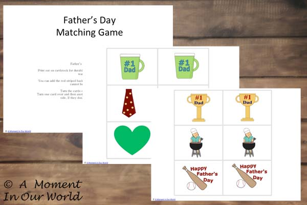 Father's Day Matching Cards