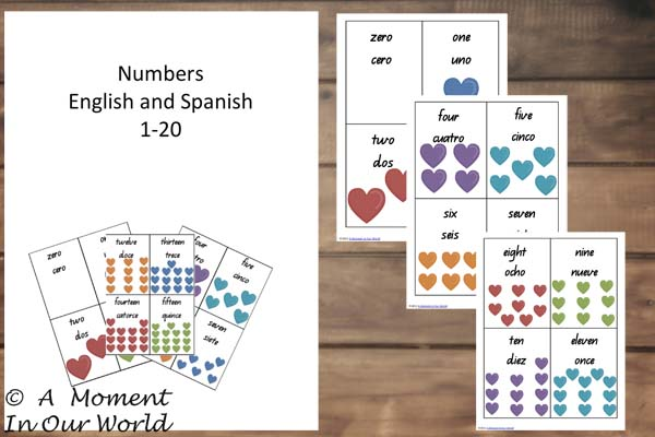 {FREE} Printable Numbers in Spanish from 0 to 20