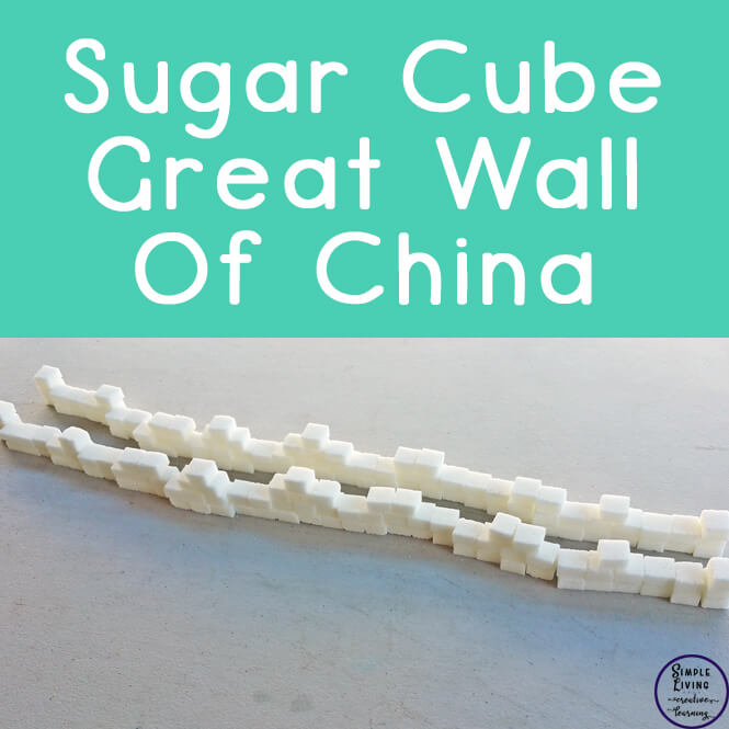 After researching and learning about the Great Wall of China, we decided to get hands-on and built a nearly 1m long wall out of sugar cubes.