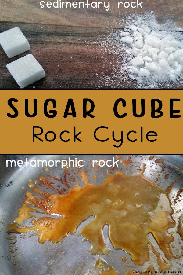 Sugar Cube Rock Cycle
