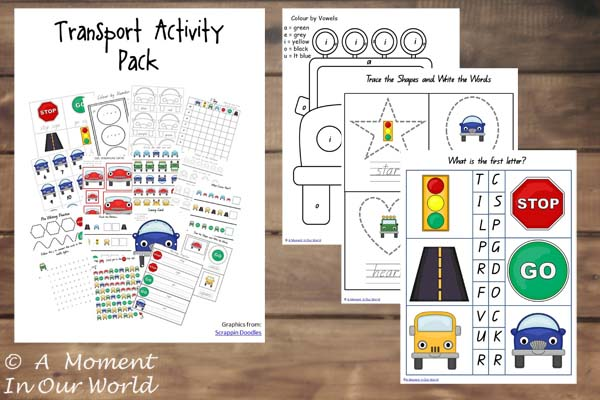 Transport Activity Pack Tots