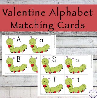 These cute Valentine Alphabet Matching Cards are a great way for kids to learn the lowercase and uppercase letters of the alphabet.
