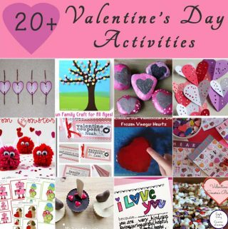 Over 20 fun Valentine themed activities and printables for your kids to enjoy this Valentine's Day.