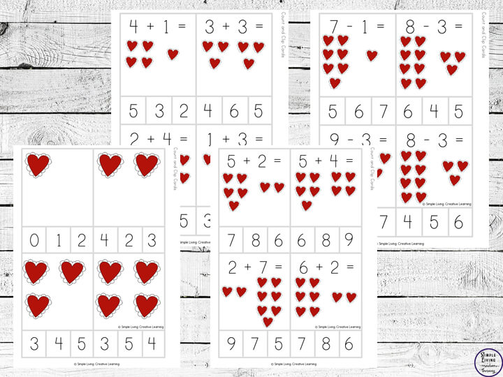 Heart Count and Clip Cards