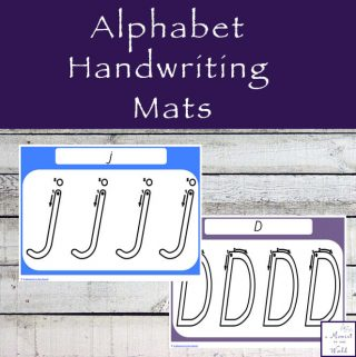 These Alphabet Handwriting Mats are a great way to introduce children to writing the letters of the alphabet.
