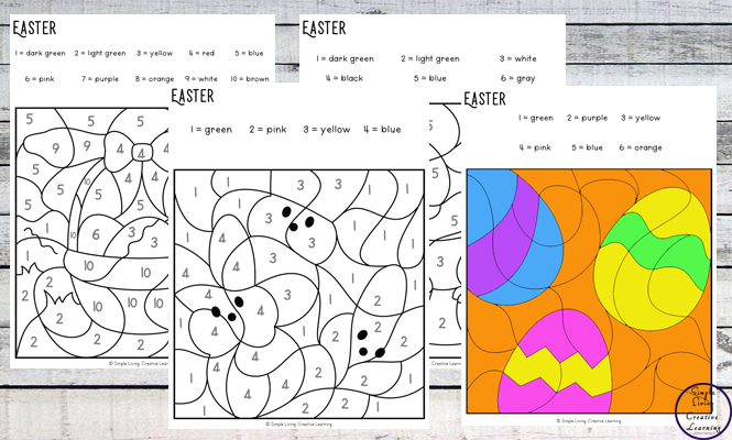 To get into the spirit of Easter, I have created this fun Easter Colour By Code pages. They are an engaging way to practice number and colour recognition while working on fine motor skills.