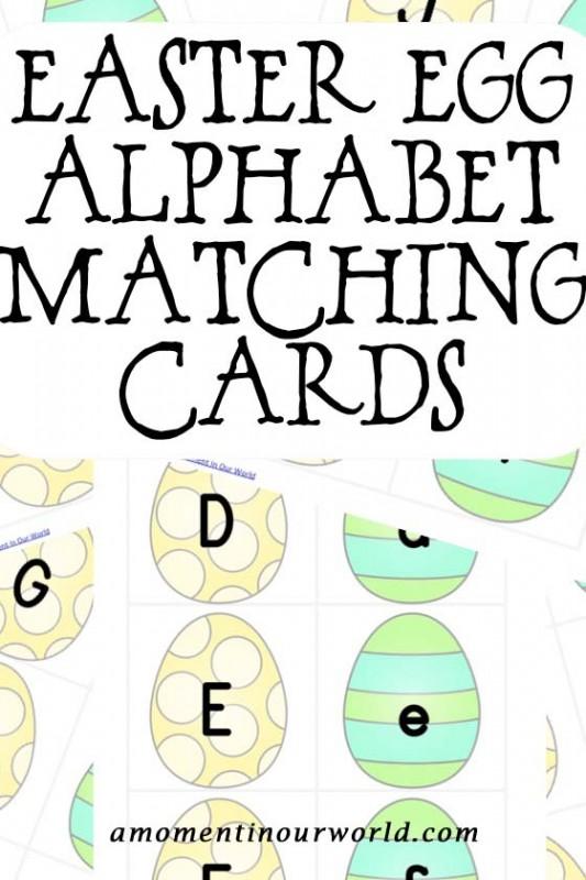 Easter Egg Alphabet Matching Cards 2