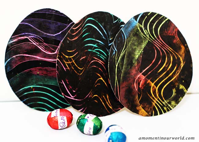 Scratch Art Eggs 3
