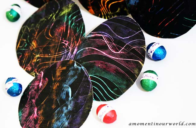 Scratch Art Eggs 7