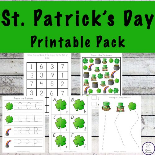 This mini St. Patrick's Day Printable Pack is aimed for kids ages 2-8. It contains lots of fun activities such as: colouring pages, number puzzles, handwriting practice, counting, size sequencing and lots more.